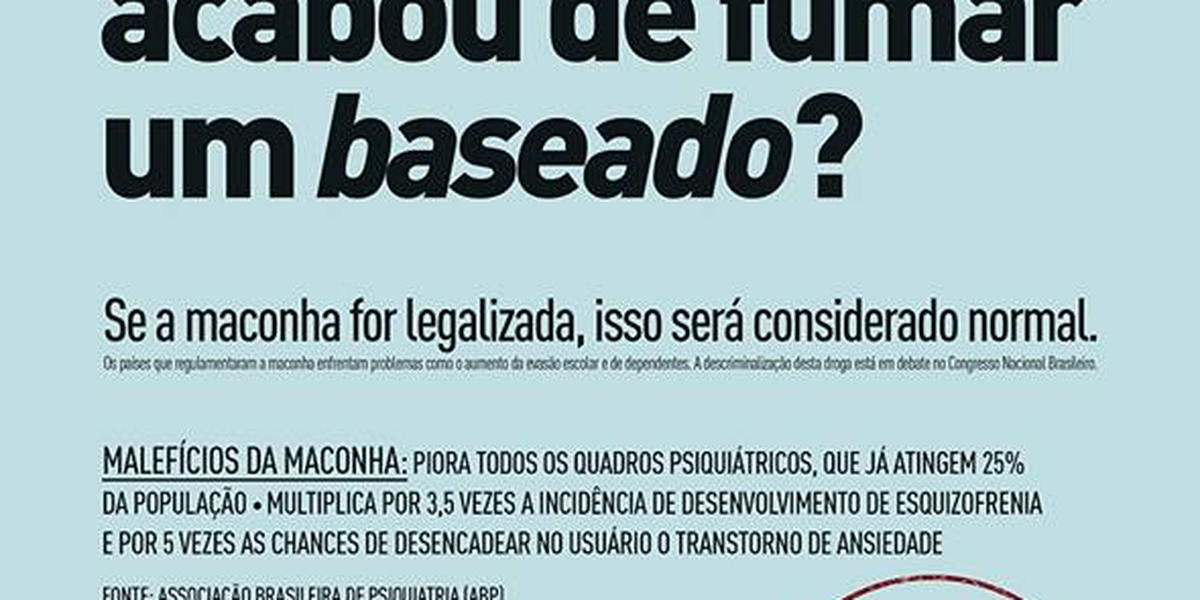 coordena231227o de campanha contra a legaliza231227o da maconha
