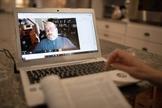 Transmissão online da escola dominical de uma igreja em Nashville, no Tennessee (EUA). (Foto: Mike DuBose/UM News)