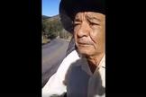 Aos 68 anos, Altair percorre as estradas pregando o Evangelho. (Foto: Reprodução/Facebook/Rhaysa Santos)