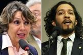 Érika Kokay (esquerda) e Jean Wyllys (direita) são os autores do projeto de lei 5002. (Imagem: HuffPost Brasil)