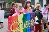 Adolescentes se manifestam em favor da ideologia de gênero. (Foto: Outright Vermont)