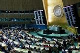 ONU expõe em painel, resultado da votação sobre a declaração oficial que rejeita o reconhecimento de Jerusalém como capital oficial de Israel. (Foto: AFP)