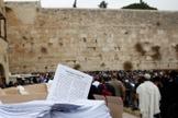 Oração por chuva no Muro das Lamentações, devido à seca em Israel. (Foto: Yechiel Gurfein/TPS)