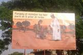 Outdoors foram colocados nas entradas e saídas de Guiné-Bissau, rejeitando a prática. (Foto: Reprodução).