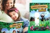 Além de existir no ambiente virtual, o livro pode ser comprado e enviado impresso para a casa de cada criança. (Foto: Divulgação).