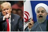 Presidente dos EUA, Donal Trump (esquerda) e presidente do Irã, Hassan Rouhani (direita). (Imagem: Inquirer News)