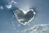 Nuvem em forma de coração. (Foto: Getty)