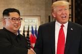 Ditador norte-coreano, Kim Jong-un, e presidente dos EUA, Donald Trump. (Foto: Hindustan Times)