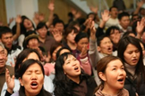 Reunião de adoração em Ulaanbaatar, na capital da Mongólia, em março de 2008. (Foto: Reprodução)