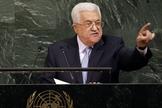 Presidente da Autoridade Palestina, Mahmoud Abbas, na Assembleia Geral das Nações Unidas. (Foto: AP/Seth Wenig)