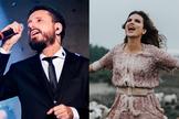 Entre os nomes dos artistas convidados estavam Leonardo Gonçalves e a ganhadora de Grammy Aline Barros. (Fotos: Divulgação).