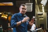 Pastor Luiz Hermínio em pregação no Mevam, em Itajaí (SC), durante o Café de Pastores. (Foto: Mevam)