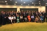 Ernesto Araújo recebeu 40 parlamentares da bancada evangélica no Itamaraty. (Foto: Coluna Guilherme Amado/Agência O Globo)
