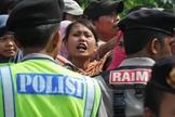 Cristãos protestam contra a intolerância religiosa na Indonésia. (Foto: Adek Berry)
