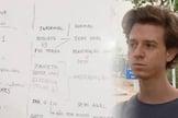 Professor Wendel Santana (direita) escreveu obscenidades no quadro durante a aula. (Foto: República de Curitiba)