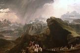 Pintura feita por John Martin, em 1816, mostra quando Josué pediu para o Sol permanecer sobre Gibeão. (Foto: Reprodução/Wikipedia)