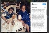 Imagem publicada por Alexa Pena Vega no Instagram mostra sua vó e relata o milagre com ela ocorrido. (Imagem: Instagram)