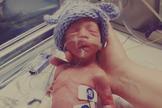 Eli nasceu com pouco mais de 1Kg e foi motivo de celebração para sua família. (Foto: LifeSiteNews)
