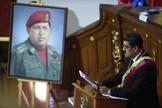 O presidente da Venezuela, Nicolás Maduro, fala diante da Assembléia Constituinte, em Caracas. (Foto: AFP/Federico Parra)
