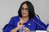 A ministra da Mulher, Família e Direitos Humanos, Damares Alves, foi criticada por sua opinião à respeito da teoria da evolução. (Foto: Reprodução)