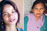 Depois que Asia Bibi (esquerda) foi liberada do Paquistão, Shagufta Kausar (direita) foi colocada em sua cela. (Foto: Reprodução)