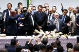Bolsonaro participa de culto na Câmara dos Deputados. (Foto: Marcelo Camargo/Agência Brasil)