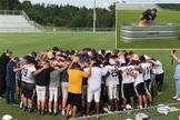Estudantes fazem oração e aluno é batizado, no destaque. (Foto: Reprodução/Twitter)
