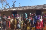 Membros de uma comunidade cristã em uma área rural da Índia. (Foto: Reprodução/Evangelical Focus)