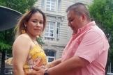 Rocio e seu marido, Miguel, ficaram separados por cinco dias devido a Covid-19. (Foto: Arquivo pessoal)