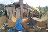 Casa simples de cristãos que foi destruída pelo vandalismo Hindutva. (Reprodução / AsiaNews)