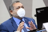 Kassio Marques durante sabatina no Senado, nesta quarta-feira (21). (Foto: Marcos Oliveira/Agência Senado)