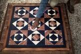 Réplica do piso, recriado por arqueólogos, em Jerusalém. (Foto: reprodução / WionNews)