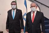 O ministro das Relações Exteriores, Ernesto Araújo, e o primeiro-ministro de Israel, Benjamin Netanyahu. (Foto: Assessoria da Embaixada de Israel no Brasil)