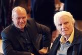 O pastor Greg Laurie e Billy Graham. (Foto: Harvest America).