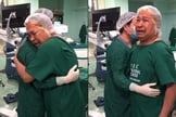 Idoso de 65 anos se emocionou e glorificou a Deus quando voltou a enxergar. (Foto: YouTube/Newsflare)