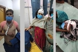 Pastor Ram Niwas e sua esposa Pinky no hospital. (Foto: Christian Solidarity Worldwide).