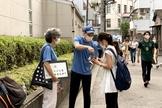 Missionários batistas estão intensificando a evangelização de rua durante os Jogos Olímpicos em Tóquio. (Foto: Baptista Press).