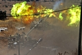 Israel dispara contra o Líbano após o lançamento de foguetes do Hezbollah. (Foto: Jalaa Marey/AFP)