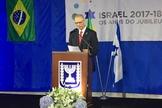 Embaixador israelense Yossi Shelley no 69º aniversário do Estado de Israel. (Foto: Guiame/Marcos Correa)