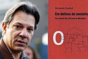 """Fernando Haddad é autor do livro """"Em Defesa do Socialismo"""". (Imagem: Edição - Guiame)"""