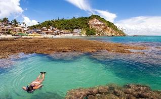 O Morro de São Paulo situa-se na Ilha de Tinharé, no município de Cairu, na Bahia. (Foto: Reprodução)