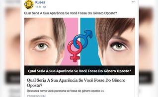 Teste mostra como seria a aparência das pessoas se fossem do sexo oposto. (Foto: Reprodução/Facebook)