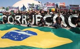 Protesto contra a corrupção em Brasília. (Foto: Reuters)