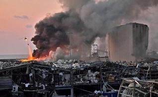 A explosão originada na região do porto de Beirute atingiu e destruiu o que encontrou em um raio de 10 quilômetros. (Imagem: CNN)
