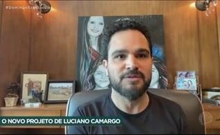 Luciano Camargo gravou as músicas de seu novo álbum gospel para um especial de fim de ano, que será apresentado na rede Record. (Imagem: Rede Record / Reprodução)