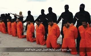 Estado Islâmico executou 21 cristãos coptas em fevereiro de 2015. (Imagem: Youtube)