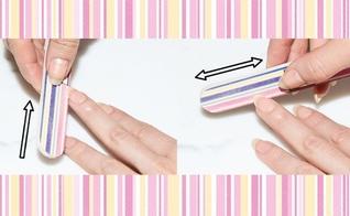 A forma como você usa a lixa pode contribuir para descamar e quebrar suas unhas. (Foto: Reprodução/Cosmopolitan)