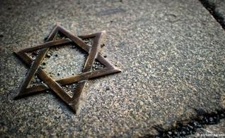 Réplica da Estrela de Davi. (Foto: Deutsche Welle)