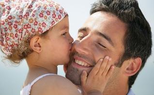 Pai e filha. (Fogo: Celso Antunes)