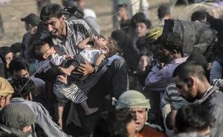 Refugiados na Síria. (Foto: AFP)